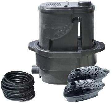 Sera Koi Professional 24000 vijverfilter met UV-systeem 55 Watt Basisvariant incl. 2 pompen en slang