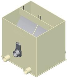 Aquaforte Ultrasieve 3 zwaartekracht zeefbochtfilter Deksel voor Ultrasieve III