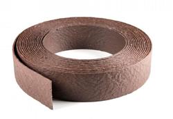 Ecolat randafwerking 14 cm x 25 meter - bruin