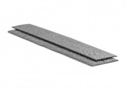 Ecolat plank grijs 19 cm x 2 meter