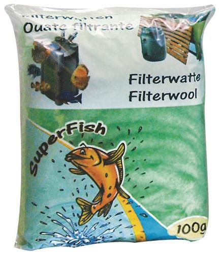Filterwatten 100 gram groen (grof) 100 gr