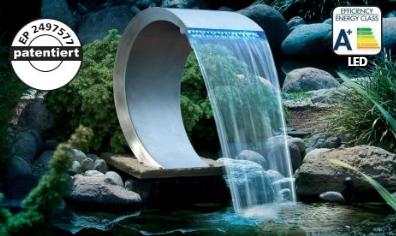 Ubbink Mamba RVS waterval - met verlichting