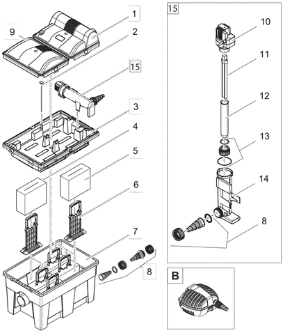 OASE Onderdelen BioSmart Set 14000 /  UVC 16000