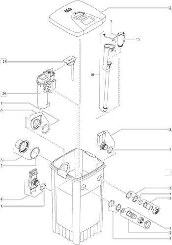 OASE Onderdelen FiltoMatic CWS 7000 / 14000 / 25000