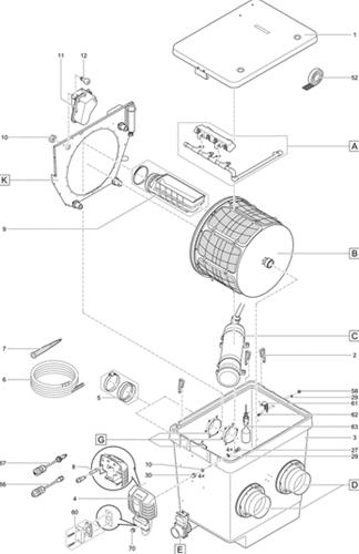 OASE Onderdelen ProfiClear Premium trommelfilter gravity