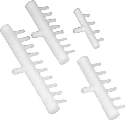Plastic luchtverdeler 6 weg