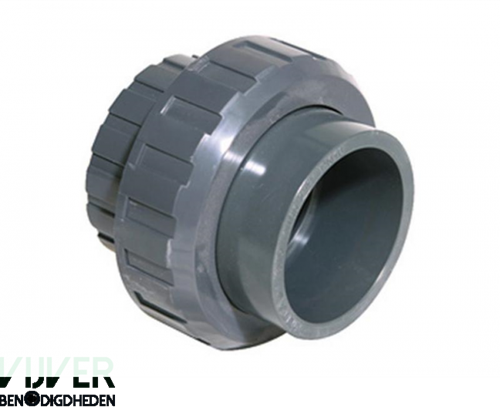 Eco-Line PVC 3/3 Koppeling met buitendraad 1 1/2 inch lijmverbinding x 1 1/2 inch buitendraad
