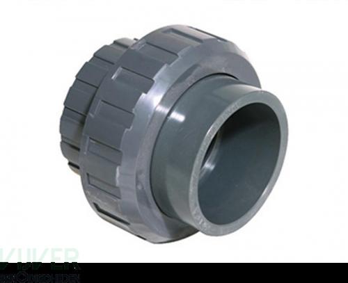 PVC 3/3 Koppeling met buitendraad - 1 1/2 inch lijmverbinding x 1 1/2 inch buitendraad