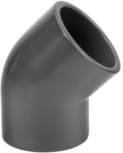 PVC Knie 45 Graden - 75 mm