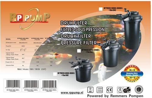 RP Press 6000 Drukfilter