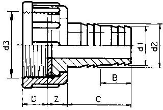 Slangtule binnendraad met wartel - 1 inch