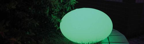 Solar platte verlichtingsbal - 35 cm