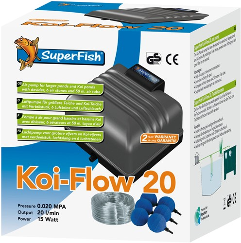 Superfish Koi Flow 20 Beluchtingsset als set