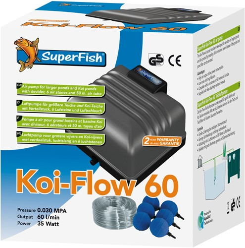 Superfish Koi Flow 60 Beluchtingsset als set