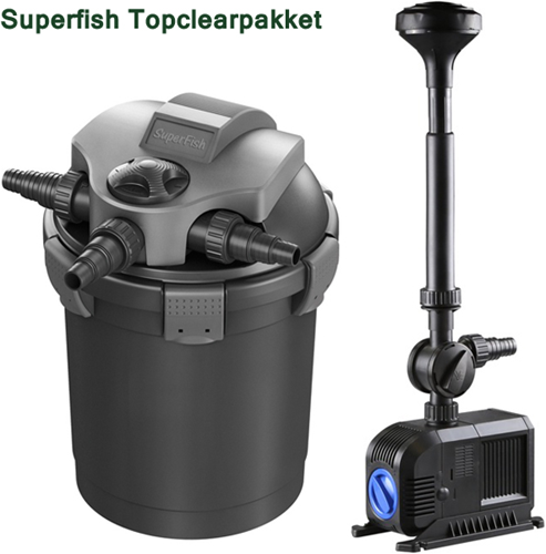 Superfish Topclear 15000 drukfilterpakket
