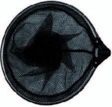 Tele Vijvernet zwart grofmazig rond 35 cm