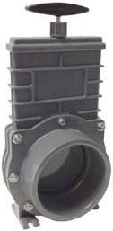 Valterra PVC schuifkraan met RVS schijf - 90 mm
