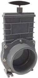 Valterra PVC schuifkraan met RVS schijf 110 mm
