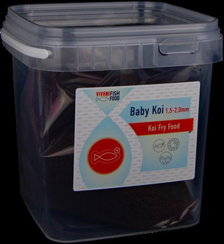 Vivani Fishfood - Baby Koi - 1,5 tot 2,0 mm 200 gram