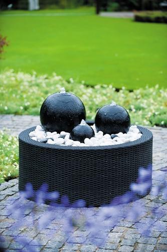 Ubbink waterornament Decowall Wicker II - zwart