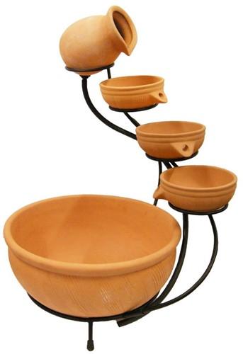 Ubbink waterornament Terracotta Watervalelement large